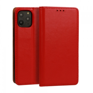 Pouzdro Book Leather Special iPhone 12 Mini (5,4), barva červená