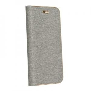 "Pouzdro LUNA Book iPhone 12, 12 Pro (6,1""), barva šedá"