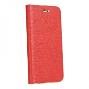 Pouzdro LUNA Book iPhone 12 Pro Max (6,7), barva červená