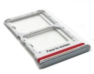 Držák (šuplík) SIM Xiaomi Mi 10 Lite white/silver