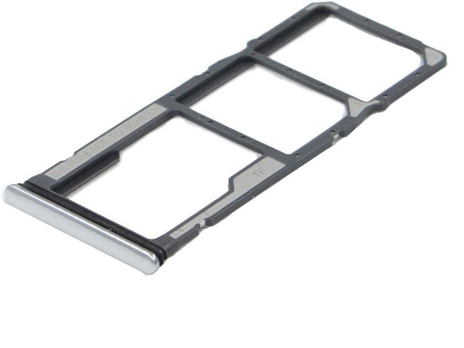 Držák (šuplík) SIM Xiaomi Redmi NOTE 8, NOTE 8T white/silver