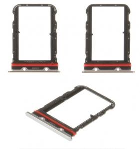 Držák (šuplík) SIM Xiaomi Mi NOTE 10 white/silver