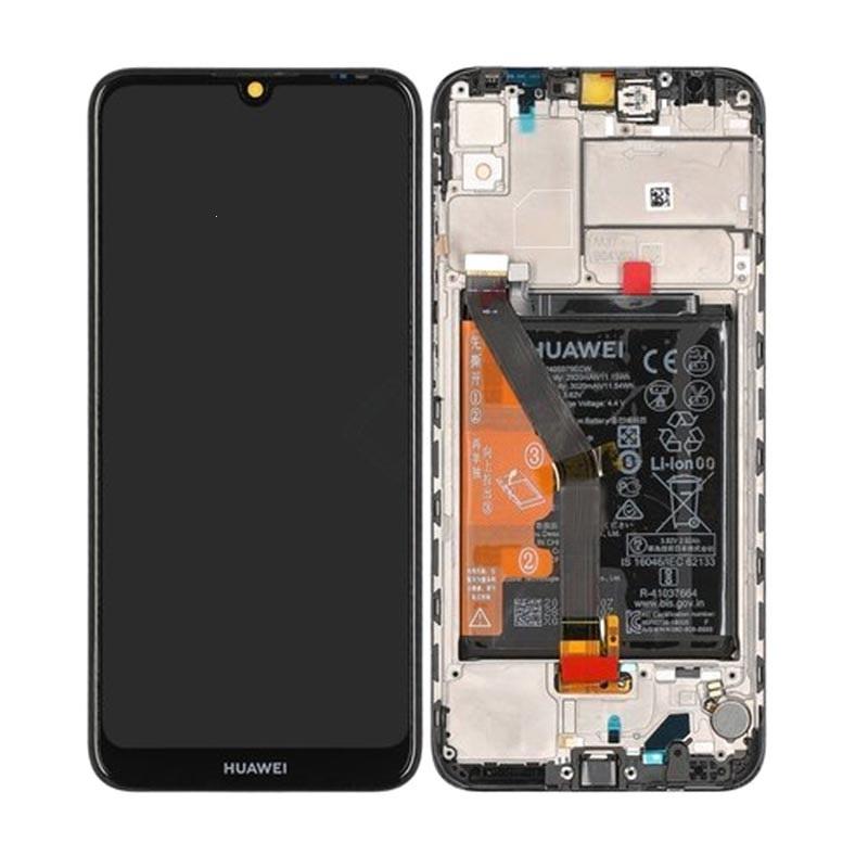 Dotyková deska Huawei Y6 (2019) + LCD s rámečkem černá (SERVICE PACK)
