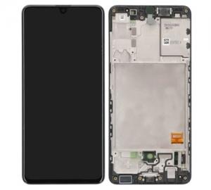 Dotyková deska Samsung A415 Galaxy A41 + LCD + rámeček black Service Pack - originál