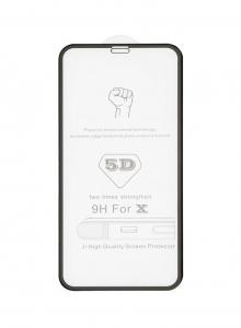 Tvrzené sklo 5D FULL GLUE iPhone 12, 12 PRO (6,1) černá - BULK