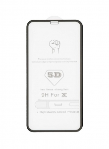 Tvrzené sklo 5D FULL GLUE iPhone 12 MINI (5,4) černá - BULK
