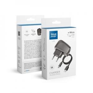 Cestovní nabíječ BlueStar Lite micro USB 1A - s odnímatelným kabelem