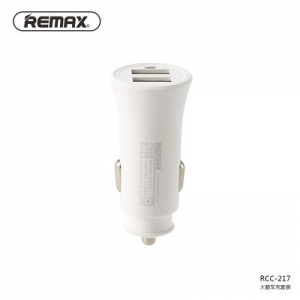 CL adaptér REMAX RCC-217, 2xUSB 2,4A, barva bílá
