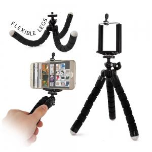Selfie držák Elastic tripod,  barva černá