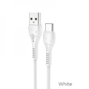 Datový kabel HOCO X37 Micro USB Typ C barva bílá - 1 metr