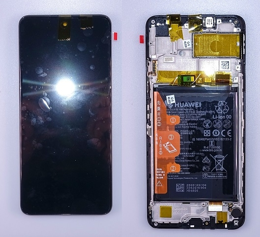 Dotyková deska Huawei P SMART 2021, Honor 10X Lite + LCD černá (SERVICE PACK)
