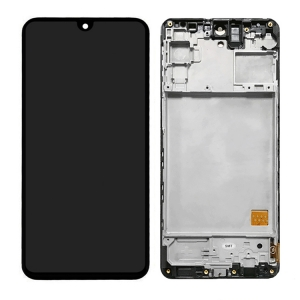 Dotyková deska Samsung M317 Galaxy M31s + LCD + rámeček black Service Pack - originál