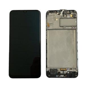 Dotyková deska Samsung M215 Galaxy M21 + LCD + rámeček black Service Pack - originál
