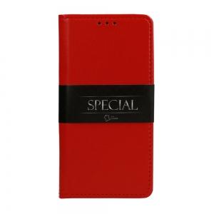 Pouzdro Book Leather Special Samsung G998B Galaxy S21 Ultra 5G, barva červená