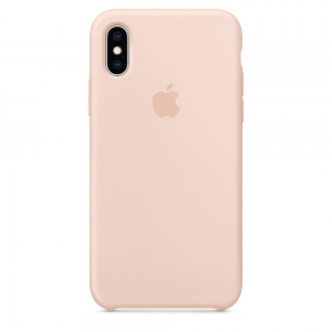 Silicone Case iPhone X, XS pink sand MDXE2FE/A (blistr)