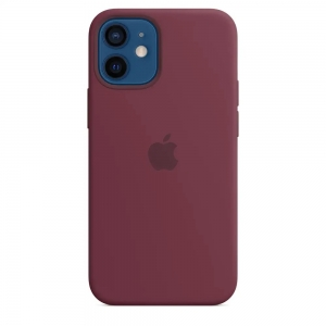 Silicone Case iPhone 12, 12 PRO plum MHL12FE/A (blistr)