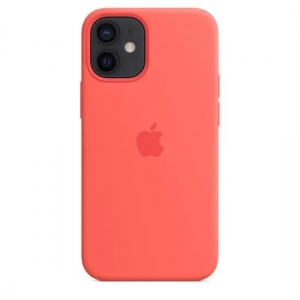 Silicone Case iPhone 12, 12 PRO pink citrus MHL63FE/A (blistr)