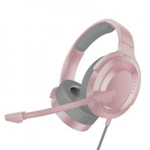 Sluchátka Baseus Gaming s mikrofonem, barva růžová