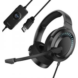 Sluchátka Baseus Gaming s mikrofonem, barva černá