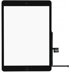 Dotyková deska Apple iPad 7 (10.2) 2019 černá originál + tlačítko HOME + Lepítka
