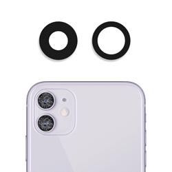 Sklíčko zadní kamery iPhone 11 bez rámečku černá