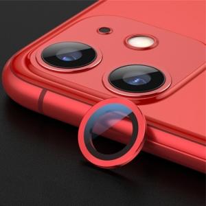 Sklíčko zadní kamery iPhone 11 + rámeček červená