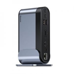 Multifunkční adaptér HUB typu C, Baseus CAHUB-BG0G, 16v1, barva černá