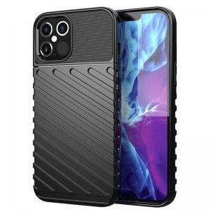 Pouzdro Thunder Case iPhone 12, 12 Pro (6,1), barva černá
