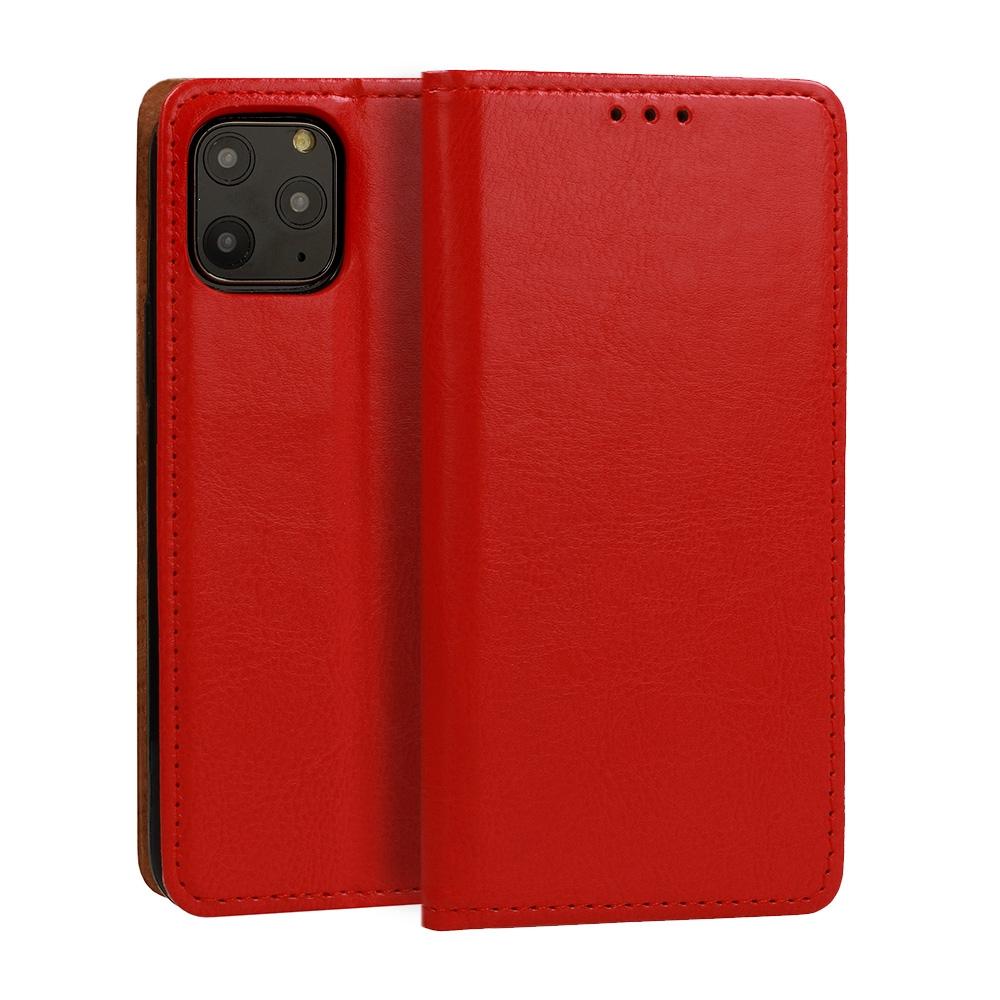 Pouzdro Book Leather Special Samsung A207 Galaxy A20s, barva červená