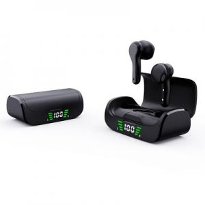 Bluetooth headset QUOA K28, TWS s nabíjecím pouzdrem, barva černá
