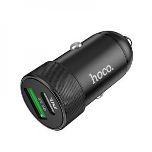 CL adaptér HOCO Z32B Power Delivery, 1x USB, 1x USB Typ C, QC 2,1A , barva černá