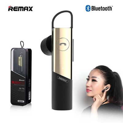 Bluetooth headset REMAX RB-T15 (multi-point + EDR) barva zlatá