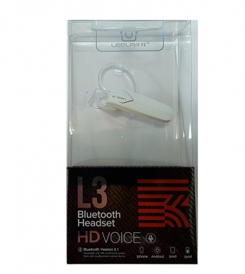 Bluetooth Headset HD VOICE L3 super sound version 4,1 barva bílá