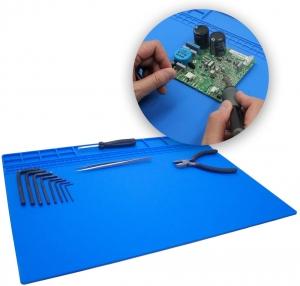 Silikonová podložka s magnety 40 x 30 cm (nehořlavá) barva modrá