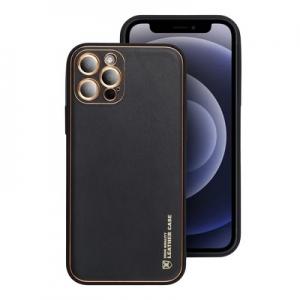Pouzdro Leather Back Case iPhone 12 Pro Max (6,7), barva černá