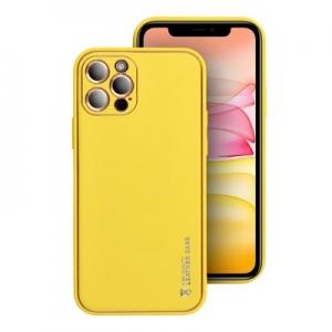 Pouzdro Leather Back Case iPhone 12 (6,1), barva žlutá