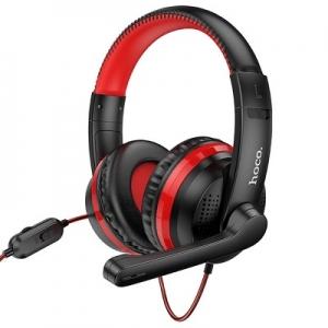 Bluetooth Sluchátka HOCO W103 Gaming, barva červená