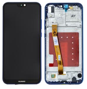 Dotyková deska Huawei P20 LITE + LCD modrá (SERVICE PACK)