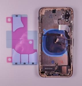 Kryt baterie + střední iPhone XS (5,8) originál barva grey - OSAZENÝ
