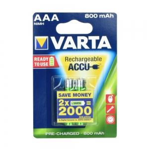 Baterie nabíjecí VARTA R3 800mAh (AAA) 2pcs