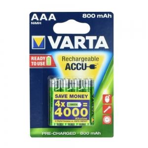 Baterie nabíjecí VARTA R3 800mAh (AAA) 4pcs