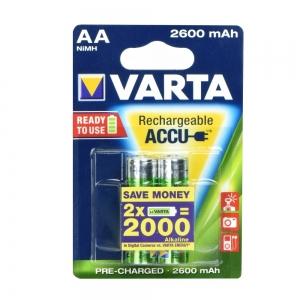 Baterie nabíjecí VARTA R6 2.600mAh (AA) 2pcs