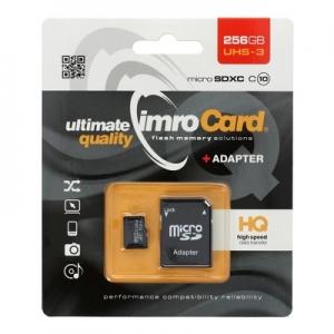 Paměťová karta micro SD IMRO 256GB Class 10, UHS 3 Blistr
