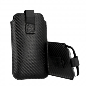 Pouzdro DEKO Carbon (R17) iPhone 11 Pro Max, Sam. A51, M21, S10 Plus, barva černá