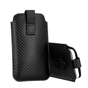 Pouzdro DEKO Carbon (R19) Sam. S20 Ultra, Xia. Redmi Note 9 Pro, barva černá