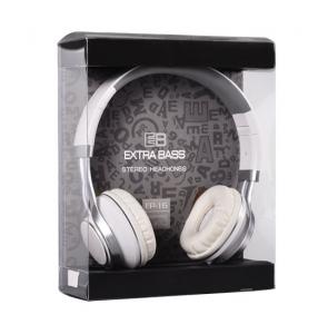 Sluchátka Extra Bass EP16 s mikrofonem, 3,5mm jack, barva bílá