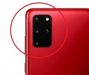 Sklíčko zadní kamery Samsung G985 Galaxy S20+ red
