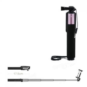 Selfie držák REMAX P5, barva černá/růžová