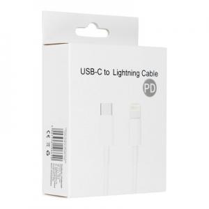 Datový kabel USB TYP C / Lightning 8-pin PD 20W 3A, barva bílá BOX