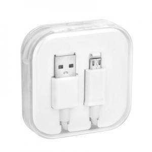 Datový kabel micro USB barva bílá, BOX
